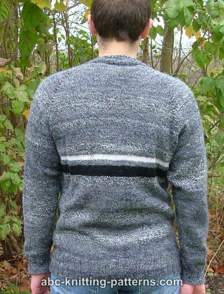 513705317e85 ABC Knitting Patterns - Men s Top Down Raglan Sweater