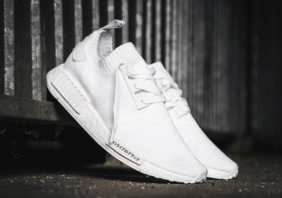 new styles e14d7 81cdb adidas NMD R1 Primeknit Triple White and Triple Black Japan ...