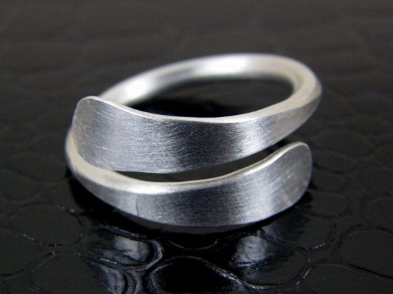 Hand Forged Rustic Aluminum Ring Mens or Womens Free Shipping USA on Etsy, $15.00