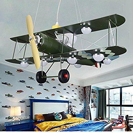 ✈ Pilotenzimmer: Krasse Flugzeug Deckenlampe! GaoHX Light American ...