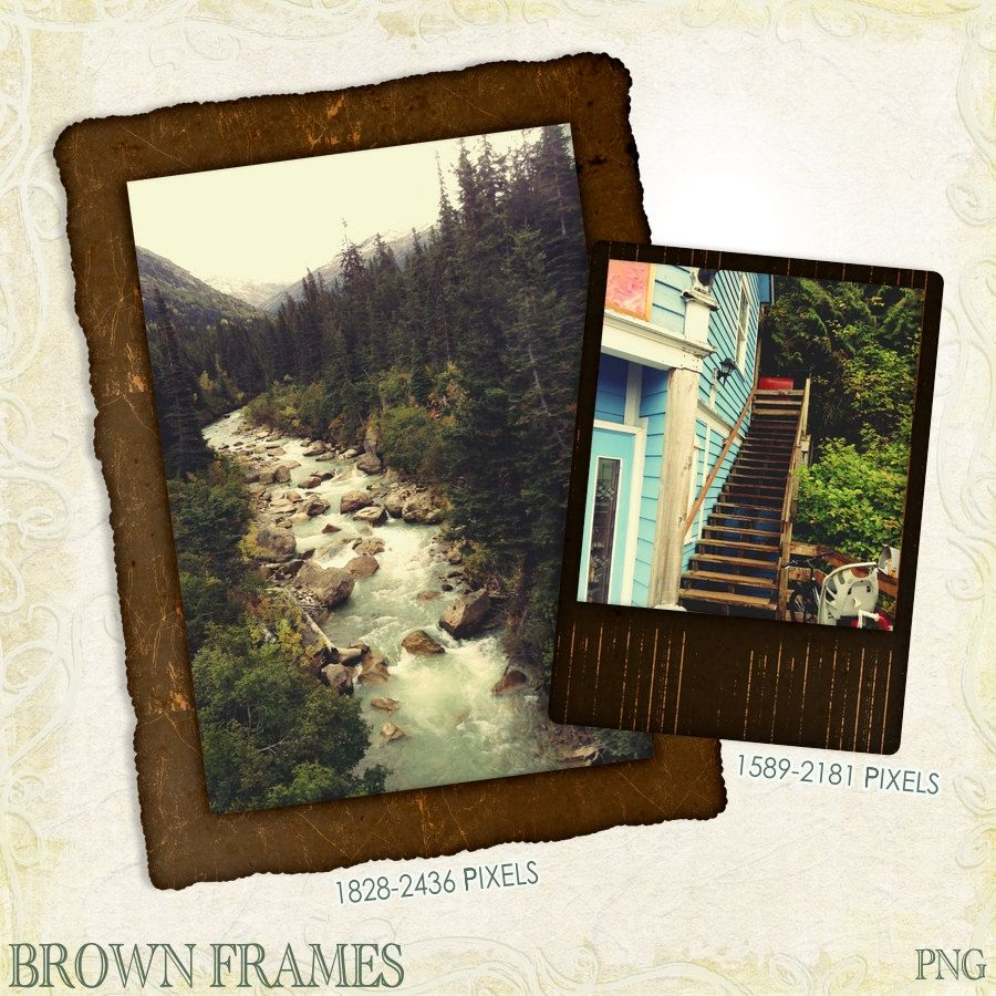 Brown frames nature frames instant download digital frames brown frames nature frames instant download digital frames for photographers by justdigitalpapers jeuxipadfo Image collections