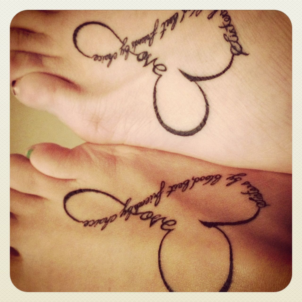 sister tattoos <3 Sisters by blood, best friends by choice <3 cant ...