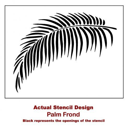 Palm Frond Wall Stencil - Large Tropical stencils for easy