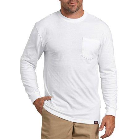 Men S Long Sleeve Heavy Weight Pocket T Shirt 2 Pack Work