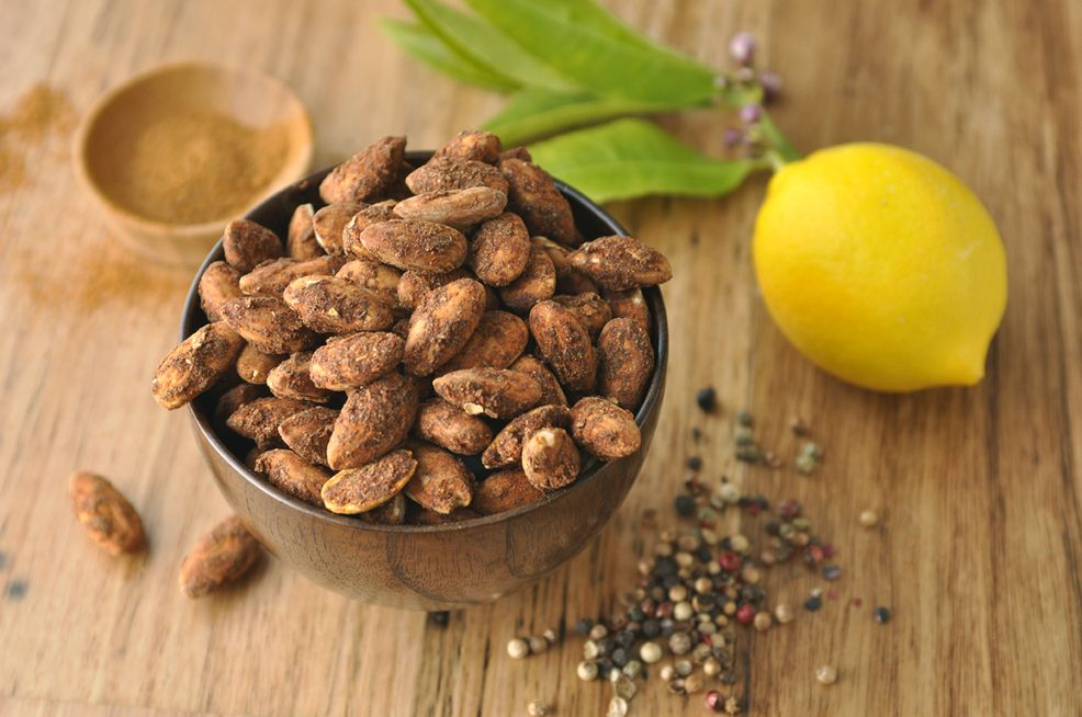 Lemon Pepper Cajun Almonds from Living Intentions // available in Spencer's Market