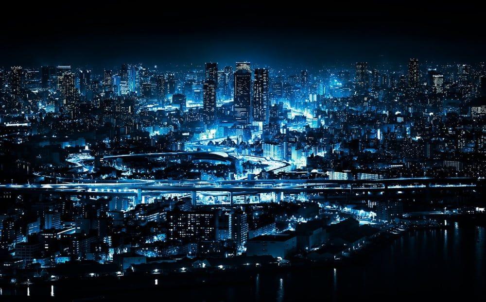 20 World S Most Beautiful Cities At Night Night City Osaka Cityscape