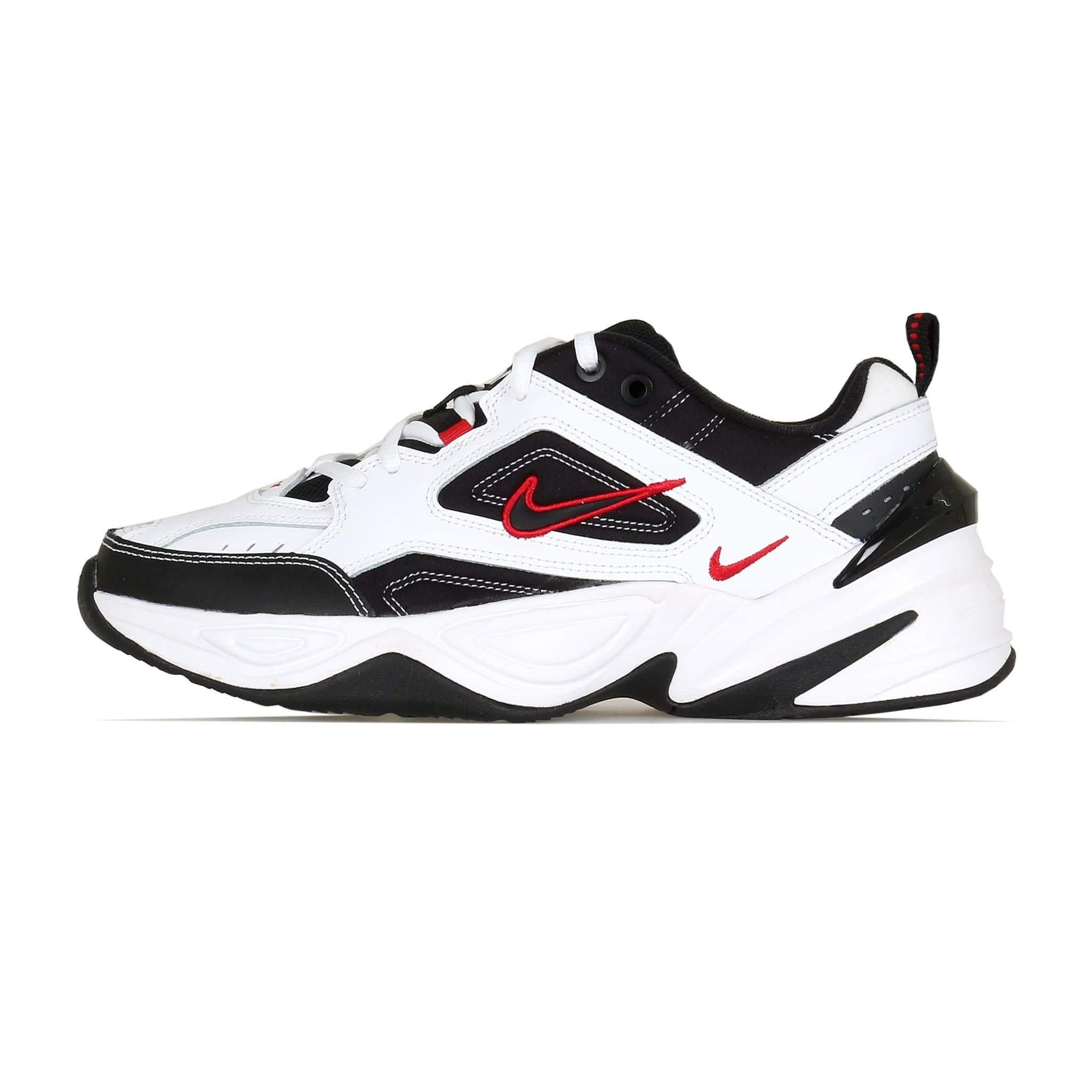 Nike M2k Tekno Monarch White Black University Red Uk 8 White Nikes Nike Jeans Store