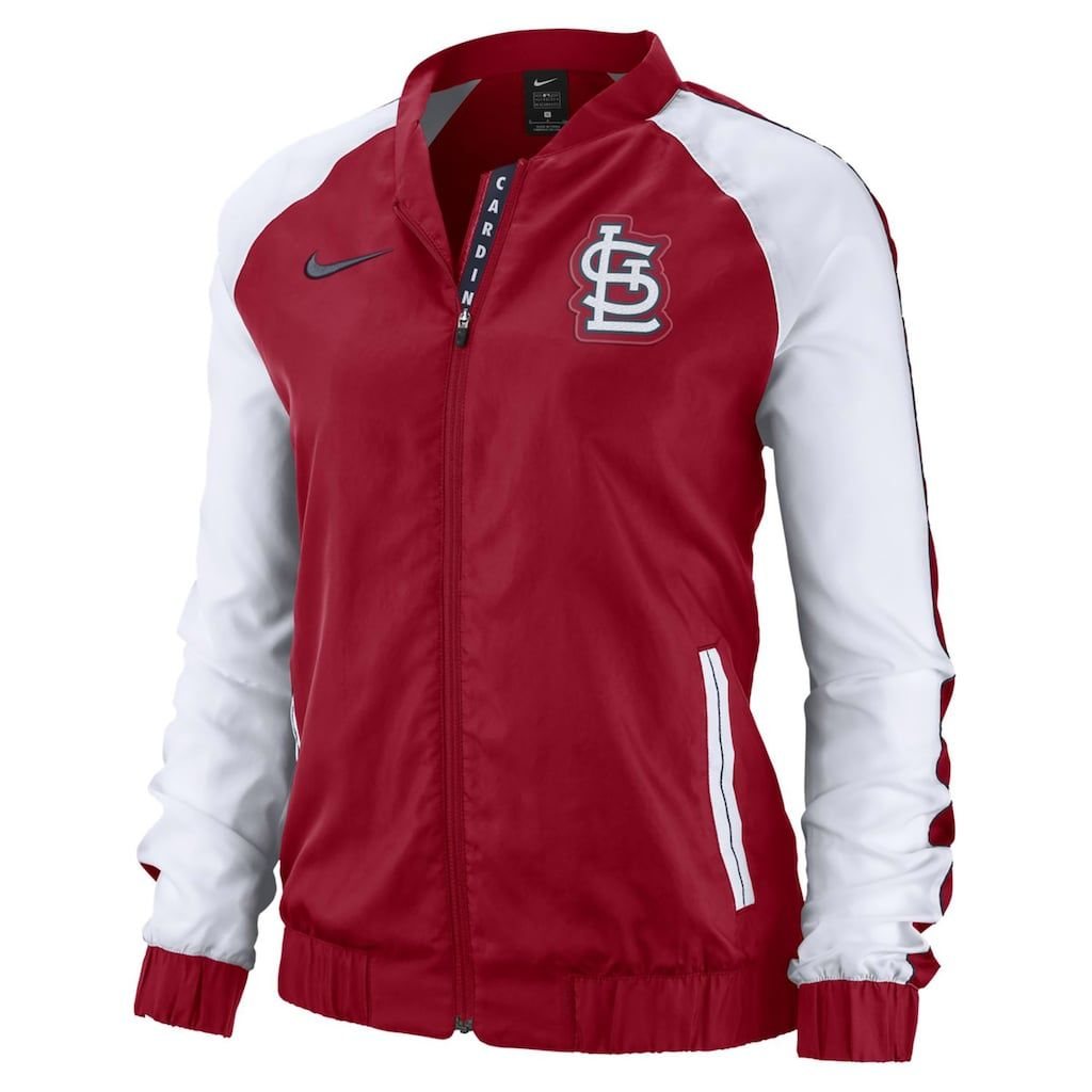 Women's Nike St. Louis Cardinals Varsity Jacket #varsityjacketoutfit