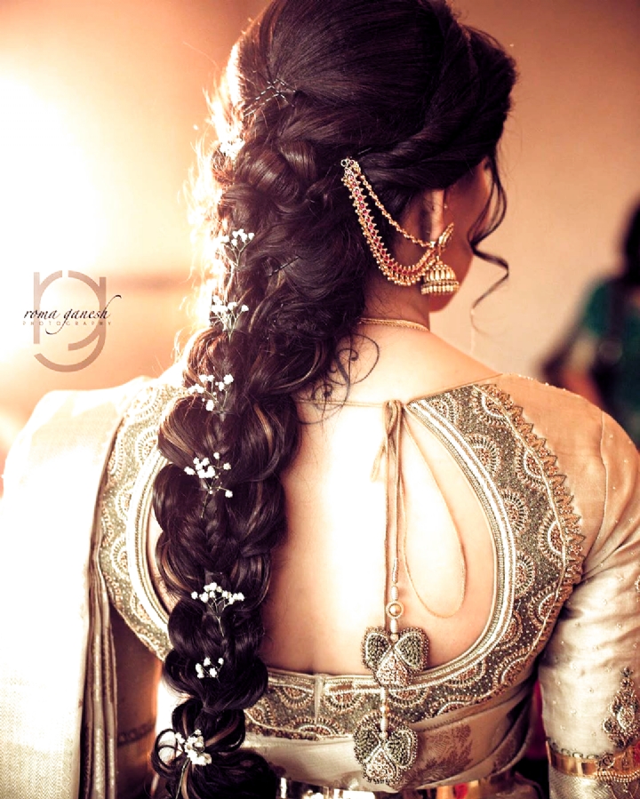 Brides Hairstyles Bridesmaid Hairstyles Hairstyles Hairstyles For Indian In 2020 Long Hair Wedding Styles South Indian Wedding Hairstyles Indian Bride Hairstyle