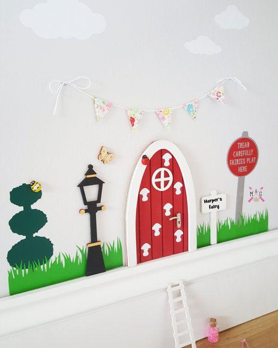 Fairy Door Accessories Fairy Scene Wall Stickers Elf Door Fairy Door Accessories Wall Decor Fairy Fairy Doors