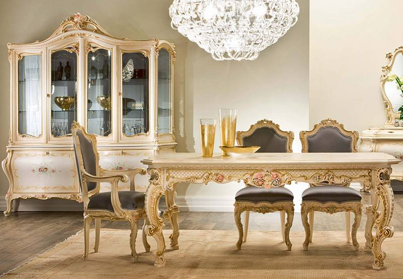 32+ Baroque dining table and chairs Trend