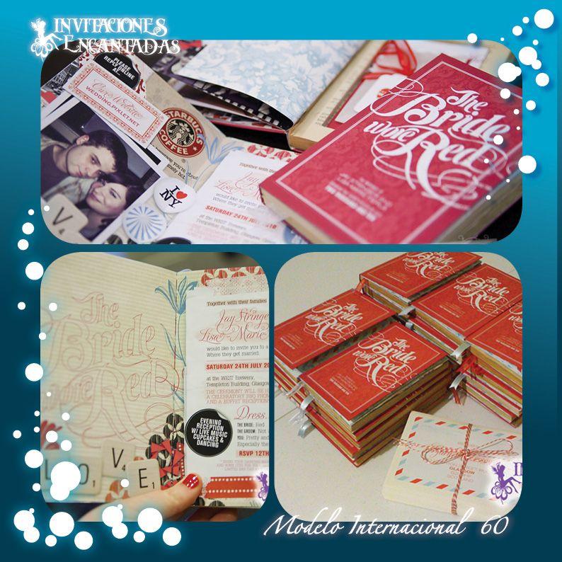 Invitacion Con Diseño De Libro Tipo Diario De Recuerdos