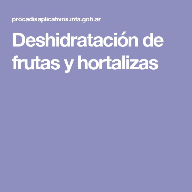 Deshidratación de frutas y hortalizas