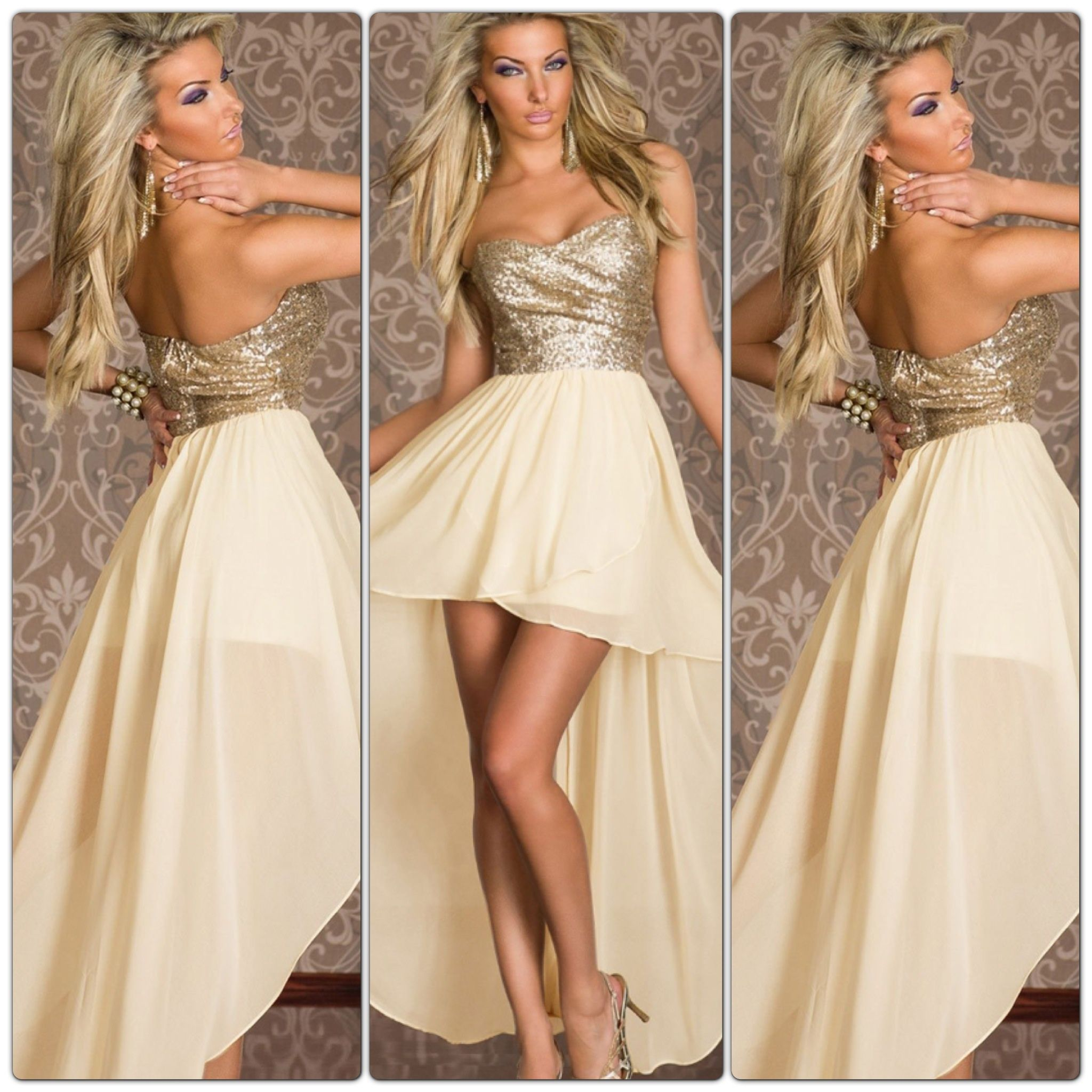 Gold high low dress urban ray boutique online store powered by