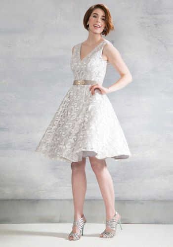 ab7765731eb Vintage Inspired Wedding Dresses Fast Track to Fanciful Fit and Flare Dress  in 4  52.99 AT vintagedancer.com