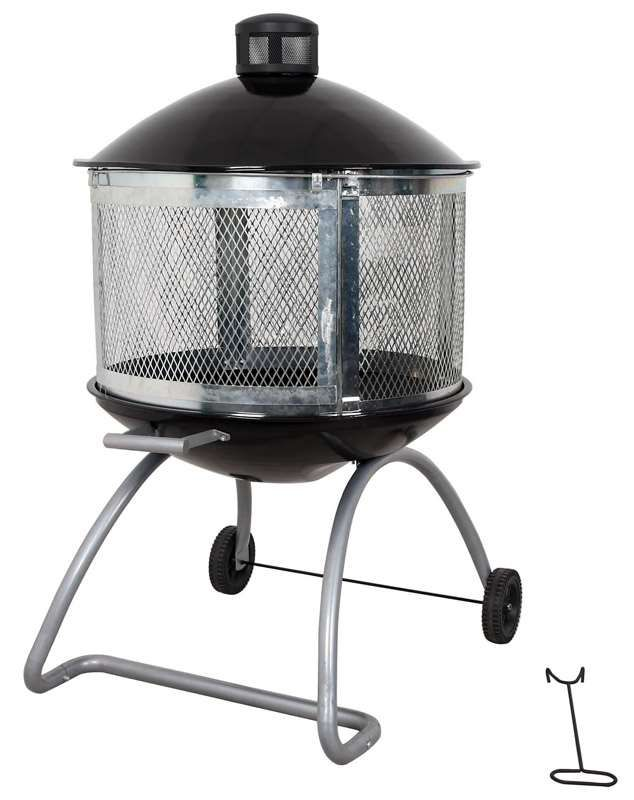 Living Accents Round Wood Fire Pit 45 in. H x 28 in. W x ... on Ace Hardware Fire Pit id=25331