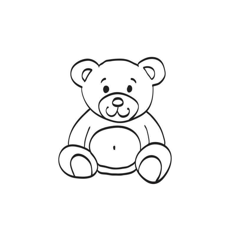 Disegno Di Un Orsetto Da Stampare Disegni Facili Disegni Tatuaggi Con Orso