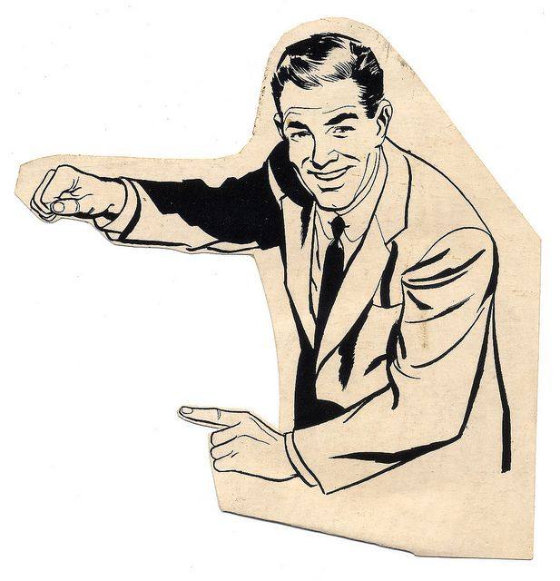 Pointing Man Vintage Illustration Art Vintage Graphic Design Retro Illustration