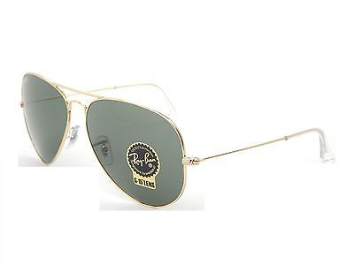 new ray ban aviator 3026 rb l2846 62mm sunglasses gold frame green g 15 lens