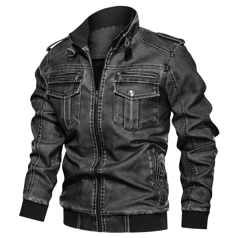 Photo of L-6XL Winter New Men Leather Jacket killer Vintage Motorcycle Faux Leather Coat Fashion PU plus size Bomber Jacket Mens | Aalamey Shop