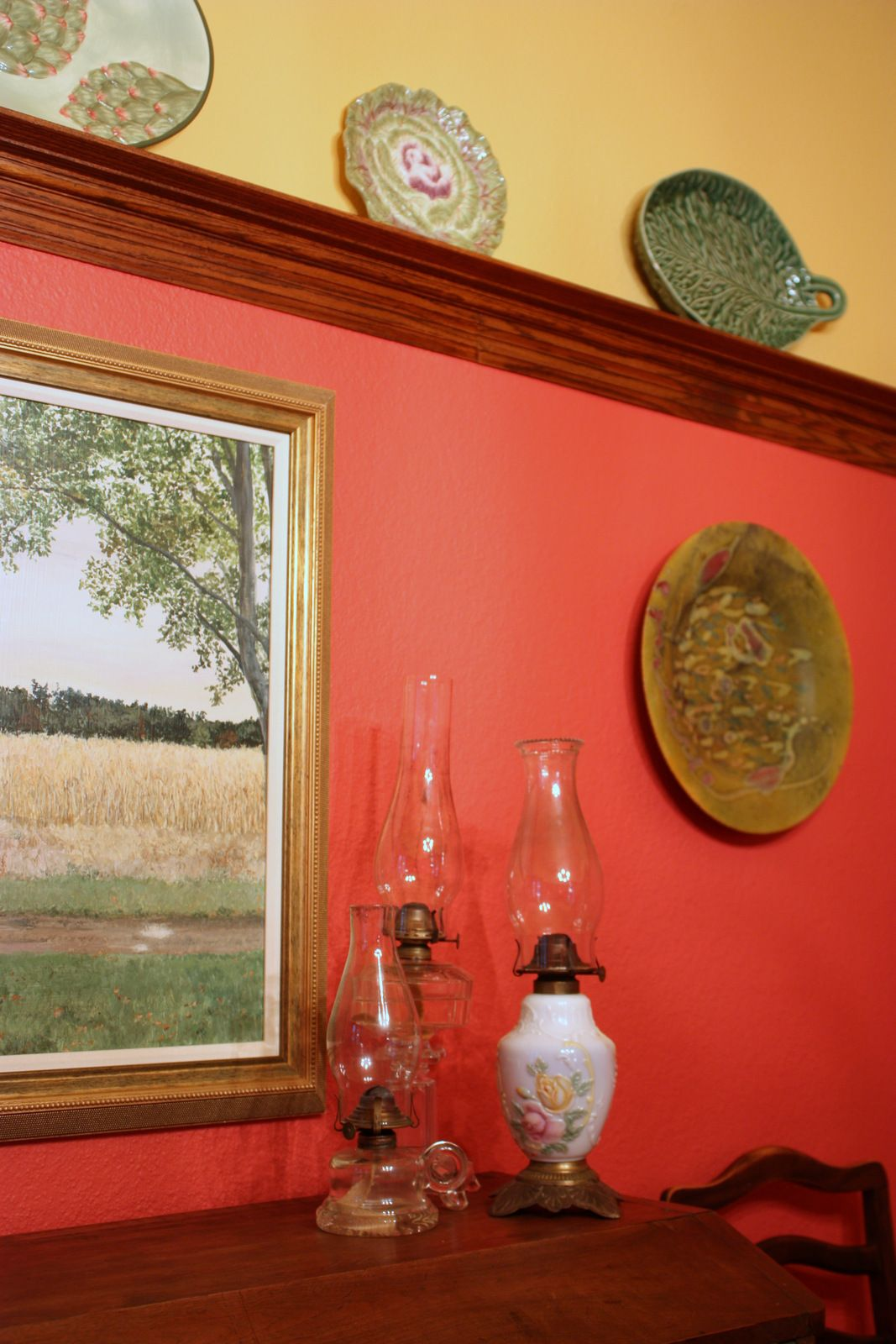 Clients dining room in Watermelon and Butter Yellow walls | Color ...