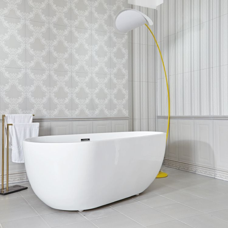 indian high quality white galzed porcelain bathroom wall ...