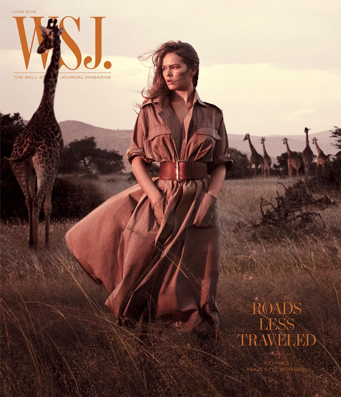 e92d50f8c4a Great Explorations in Kenya: Anna Ewers & Edie Campbell for WSJ. Magazine  June 2016 by Mikael Jansson - Ralph Lauren Collection trench coat