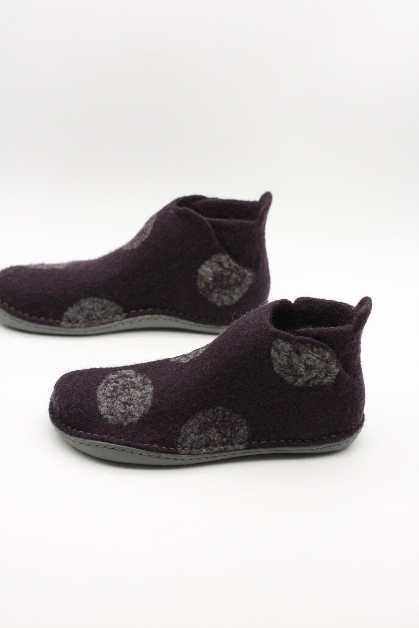 0ae51be45b4ae LUCIELALUNE /EU39 US8.5 UK6 /gray dots /dark ink ankle boots/ men ...