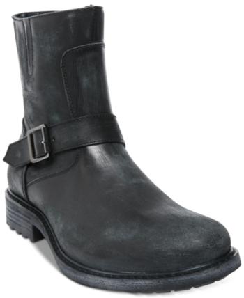5027e014155 Steve Madden Men s Buck Leather Boots - Gray 7.5