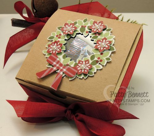 Paper Decorative Boxes Fair Die Cut A Wondrous Wreath Stamp And Place It Around The Window Design Ideas