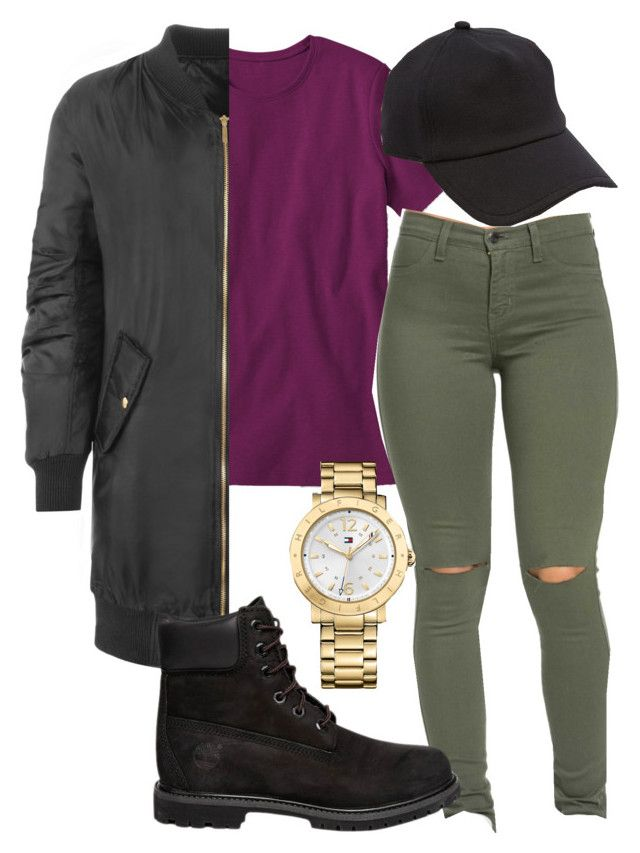 """winter."" by rabiamiah on Polyvore featuring L.L.Bean, WearAll, Timberland, Tommy Hilfiger, rag & bone and plus size clothing"