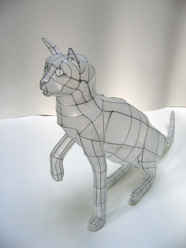 wire cat | Paper sculptures, Conceptual art and 2d art