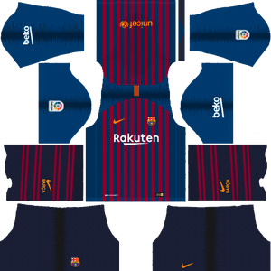 Barcelona 2018 2019 Kits Logo And Older Kits Dream League Soccer Soccer League Barcelona Team Soccer Kits