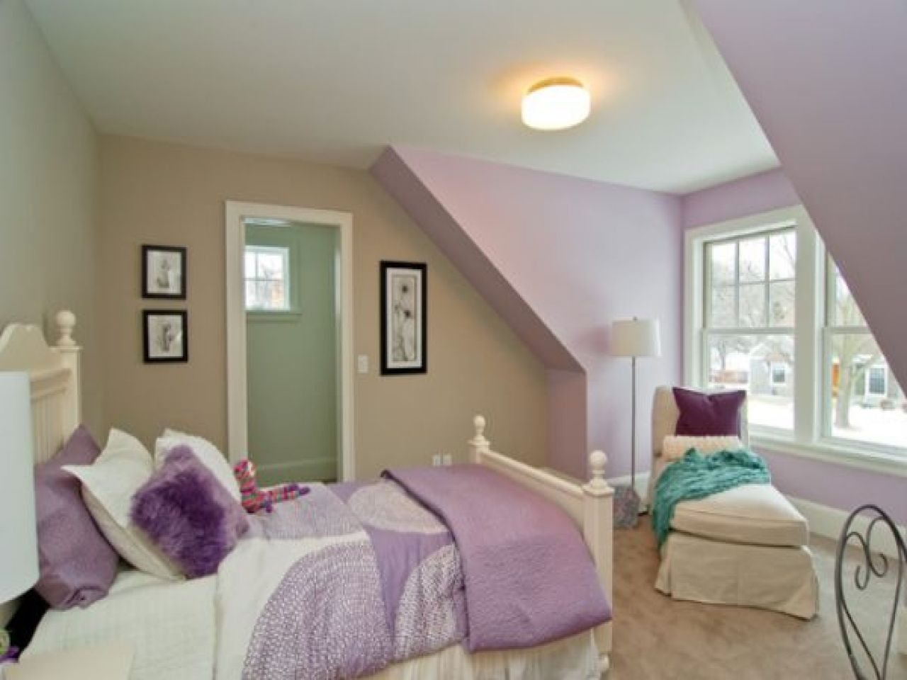 Purple And Tan Bedroom Ideas Part - 29: Classic Lavender, Tan And Sage. Love This For A Girlu0027s Room This Is The