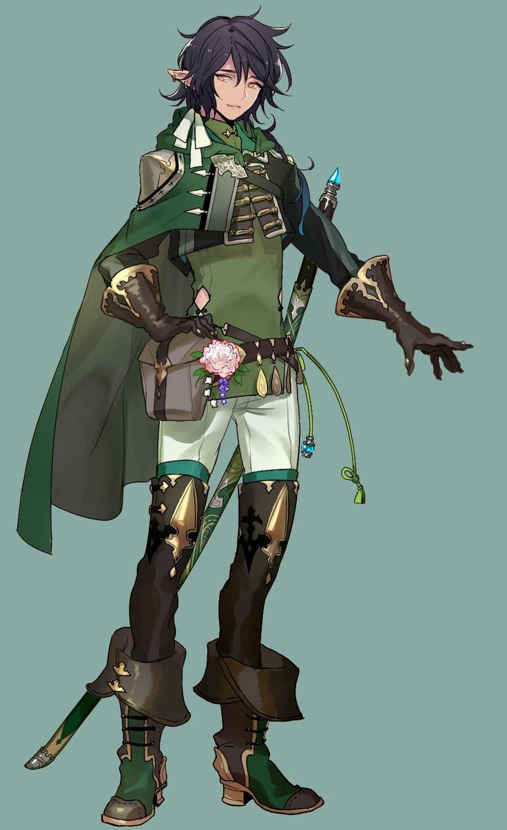 Nice Outtif Anime Elf Character Design Male Character Design