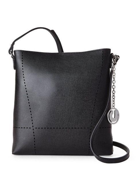 CHARLES JOURDAN Black Nira Designer Crossbody Handbag - GoGetGlam  - 1