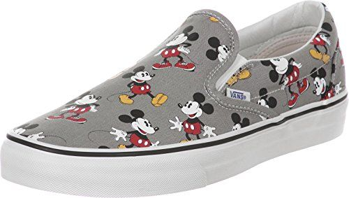 8c71c9121aad2b Vans CLASSIC SLIP-ONS (Disney) Mickey Mouse   Frost Grey Skateboard Shoes  -13   niftywarehouse.com