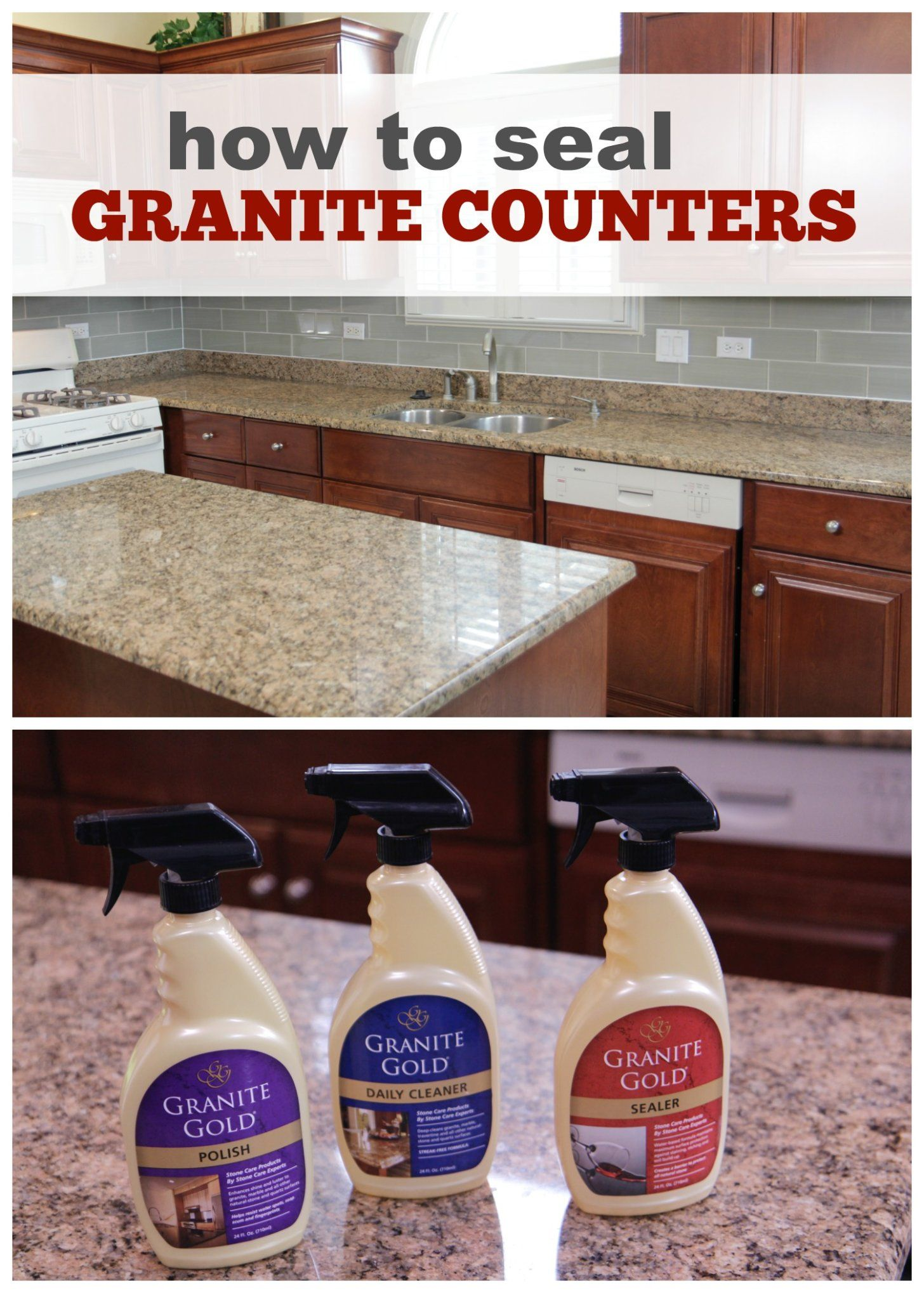 Seal Clean Polish Granite Countertops Wgn Tv How To Clean Granite Cleaning Granite Countertops Sealing Granite Countertops