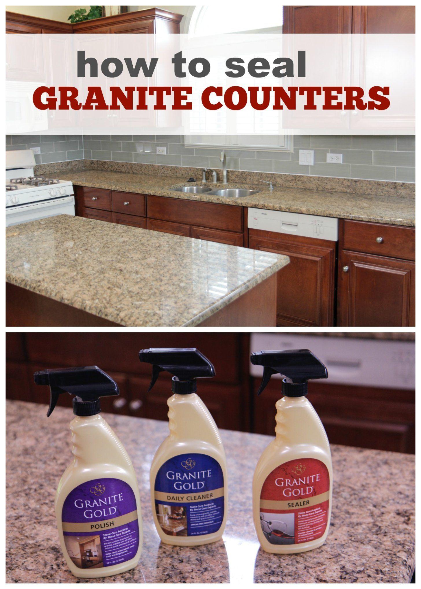Seal Clean Polish Granite Countertops