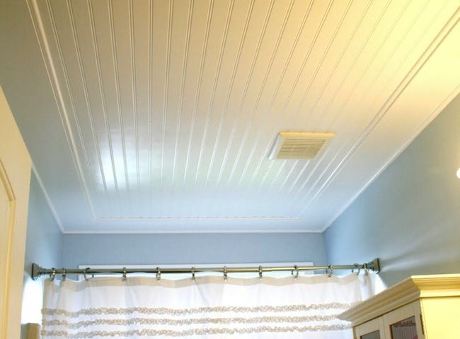 Beadboard Ceiling For The Half Bath Off The Kitchen