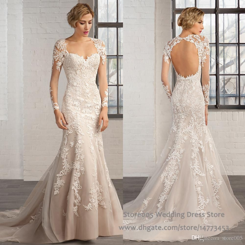 Fishtail Wedding Dress Sweetheart Open Back Jpg 1000
