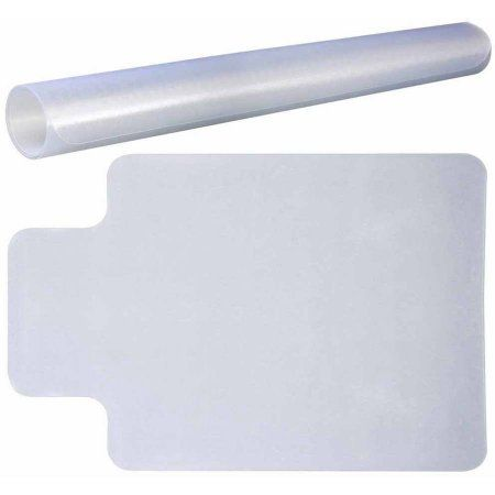 sumaclife clear vinyl personal office chair mat with lip for carpet