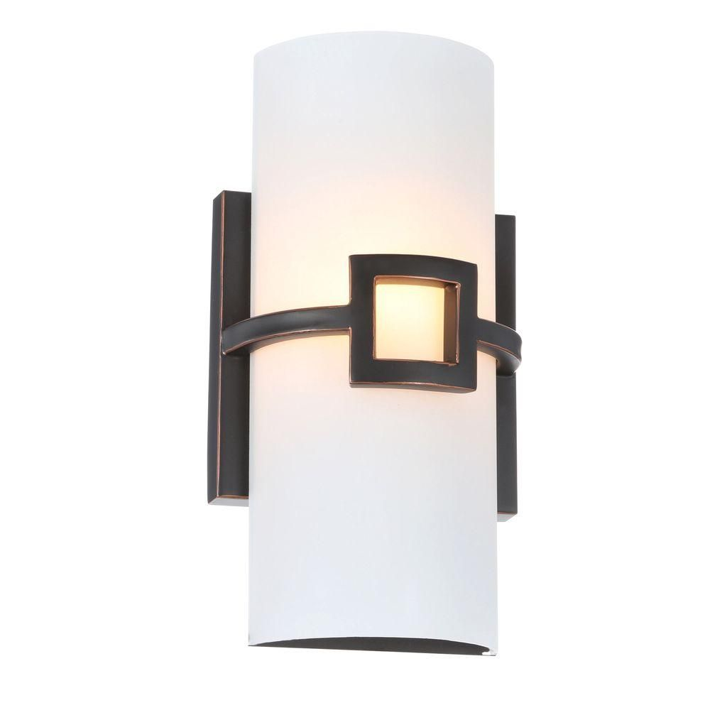 Design House Monroe 1 Light Oil Rubbed Bronze Sconce 514604 The Home Depot Perfect For Guest Bathroom