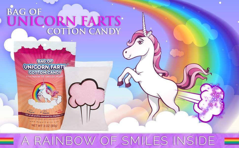 Bag of unicorn farts cotton candy unicorn farts