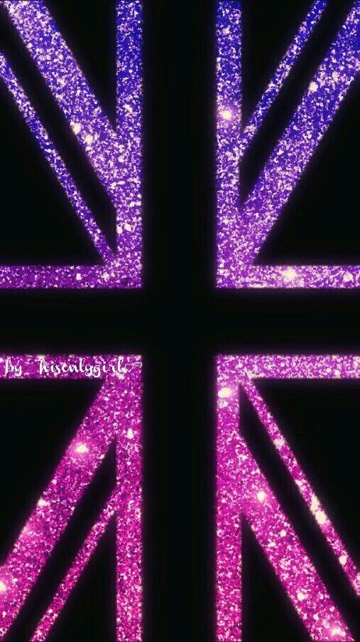 Purple & pink glitter British | CoCoPPA Walpaper