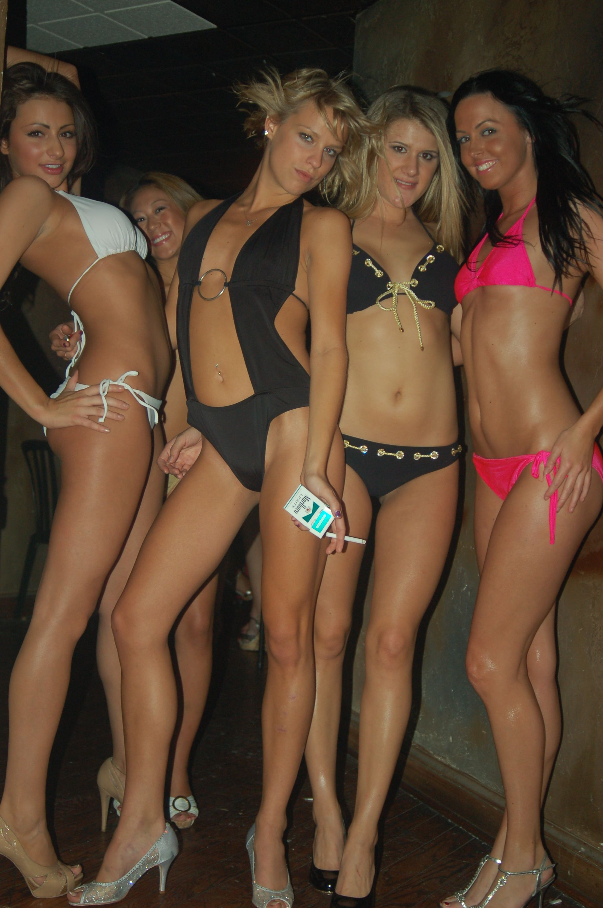 Group bikini butt shots