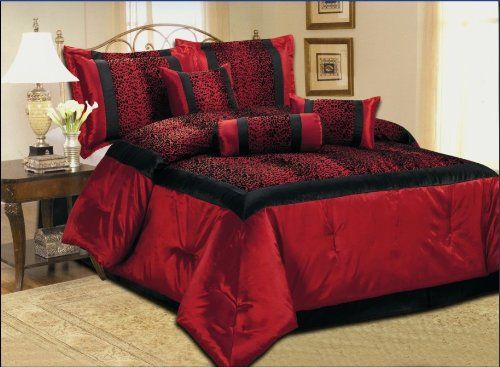 5 Piece Faux Silk Leopard Printing Comforter Set Bedding-in-a-bag ...