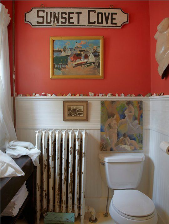 Paint Color Portfolio Coral Bathrooms Coral Bathroom Bathroom Decor Colors Eclectic Bathroom Design