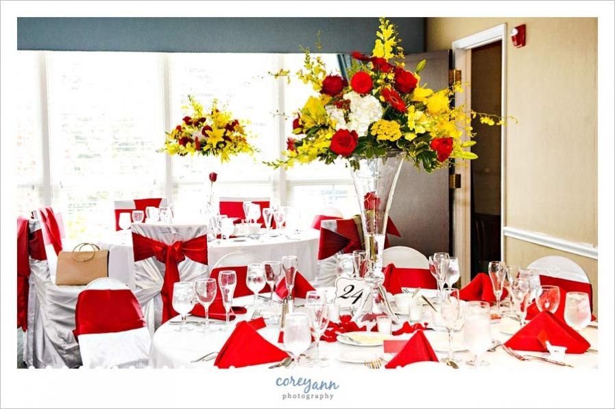 Red And Yellow Reception Idea