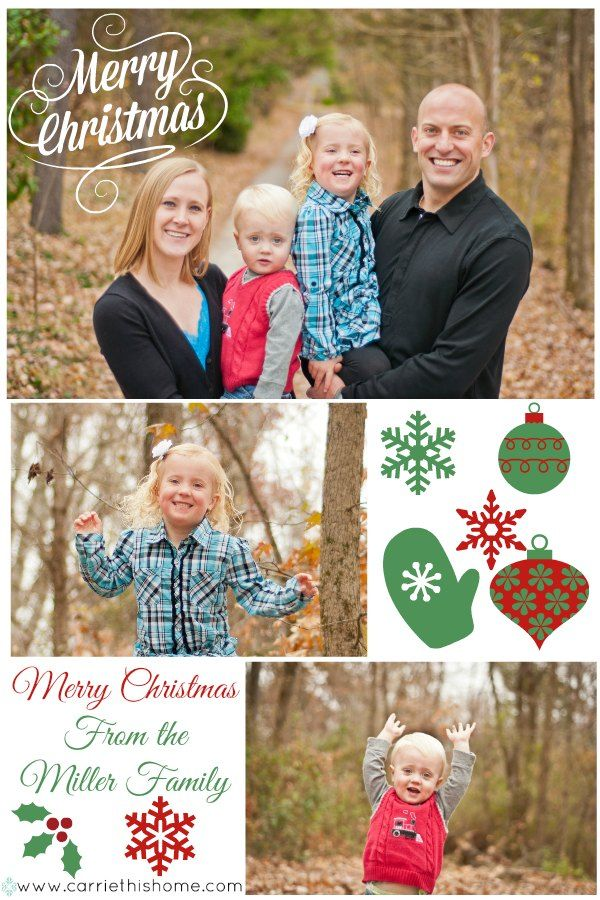 How To Make A Photo Collage Christmas Card | Pinterest | Beautiful ...